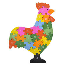 Puzzle Huhn Kinder ABC oder Zahlen Lernspielzeug Lernpuzzle Holz Alphabet