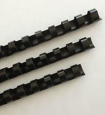 "1/4"" Plastic Binding Combs - ""BLACK"" - Set of 25"