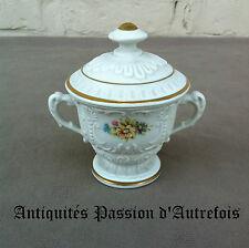 B20130579 - Petit pot couvert en biscuit de porcelaine 1950-70 - Très bon état