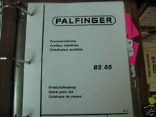 Palfinger BS 86 Auxiliary Stabilizers Parts List