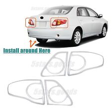 Accessories Chrome Taillight Covers Trims For Toyota Corolla Sedan 2009-2010