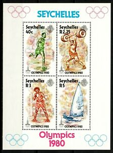Seychelles stamps 1980 MNH Sheet - Moscow Olympic Games