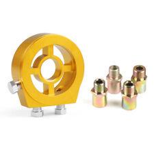3/4-16 UNF M18 M20 M22*1.5 Thread Oil Filter Cooler Sandwich Plate Adapter Gold