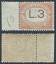 1925 SAN MARINO SEGNATASSE 3 LIRE MNH ** - X25