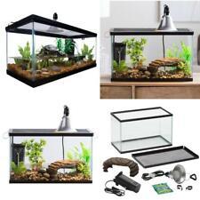 10 Gallon Aquatic Reptile Habitat Starter Kit Frog Glass Screen Lid Tank Turtle