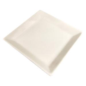 6er Set Teller Eckig 13cm Keramik Weiß Nachtisch Servier Tapas Deko Kerzenteller