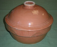 Vintage Stoneware Pottery OVEN WARE Serving Dish Bowl  With Lid Made in USA #9