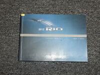 2012 Kia Rio Owners Owner's Operators User Guide Manual LX EX SX 1.6L