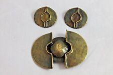 Vtg Chorange Paris Modernist Brooch Earrings Brutalist Runway Statement Jewelry