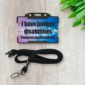 Hidden Disability Alert with Lanyard - disability awareness