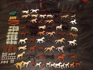 Vintage Horses Calvary Animals Figurines - Marx Timmee Toys MPC ???