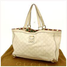Gucci Tote bag Guccissima White Woman Authentic Used Y1032