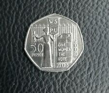 2003 Suffragette Give Women the Vote 50p Coin - VGC