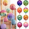 "Giant 4D Foil Balloon Ball Laser Gradient Party Wedding Kids Birthday Decor 22"""