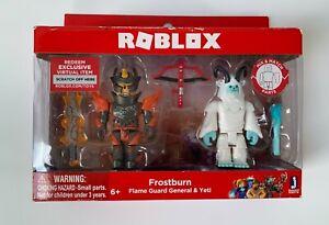 Roblox Frostburn Flame Guard General & Yeti Twin Figure Pack with Virtual Code