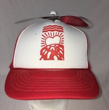 0fb6f0728cfd5 Propeller Cotton Ball Cap Red Trucker Hat Mesh Helicopter EUC