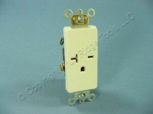 Leviton Light Almond Decora COMMERCIAL Receptacle Single Outlet 250V 20A 16441-T