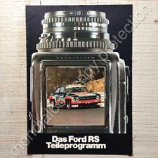 Ford RS PARTS programme * Output: 11/1976 ⭐ CAPRI ESCORT RACING ACCESSORIES RARE