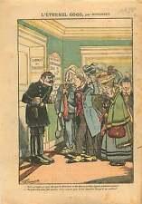 Caricature Placements Financiers Gogo Directeur Banque Prison 1911 ILLUSTRATION