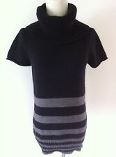 BCBG MAX AZRIA Womens Wool/Angora Short Sleeve Turtleneck Tunic Sweater Top Sz S