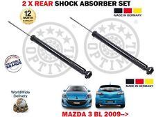 FOR MAZDA 3 BL 1.6 2.0 2.3 MZR CD DISI 2009--> NEW 2 X REAR SHOCK ABSORBER SET