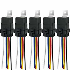 Irhapsody 5 Pack 24V Dc 40/30 Amp Waterproof Relay with Harness, Heavy Duty 12 A