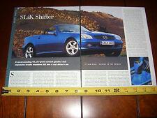 2001 MERCEDES BENZ SLK320 - ORIGINAL ARTICLE