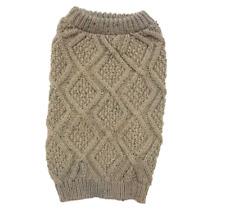 Fashion Pet Taupe Outdoor Dog Fisherman Sweater Size XXL