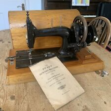 Antique Pfaff Hand Cranked Sewing Machine, Mother of Pearl - Dome Case & Manual