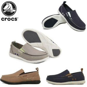 Crocs Men's Santa Cruz Slip-On Shoes Loafers - Khaki Casual Shoes