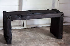 ORGANIC MODERN YAKISUGI BENCH Hand-made Salvaged Vintage Wood Bed Entry Dining