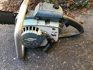 "Homelite XL-12 Vintage Chainsaw Blue w/20"" Bar and Chain"