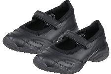 Skechers Girls Velocity Black Leather School Shoes Casual Flat Shoe Slip On New