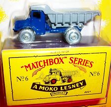 1993 Matchbox Originals  No. 6 Euclid Dump Truck Blue & Gray - Moko Lesney NEW