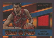 ANDREA BARGNANI 2014-15 HOOPS GAME USED WORN JERSEY PATCH SP RAPTORS KNICKS $12