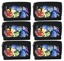 Pack of 6 Black Disney Pixar Inside Out Wallet Party Supply Bag Filler Gift