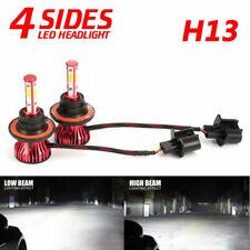 4-sides H13 9008 LED Headlight Kit 2000W 300000LM Hi/lo Beam Bulbs 6000K White