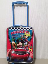 "Mickey's Road Rally Suitcase Child's 18"" Suitcase Travel Case Gentle Wear"