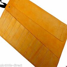 Chisel Leather Tool Roll Leather Hide Genuine Leather12 Pocket