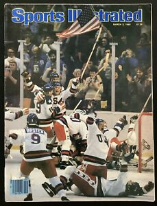 March 3, 1980 USA Olympic Hockey Team Sports Illustrated Miracle On Ice Gold
