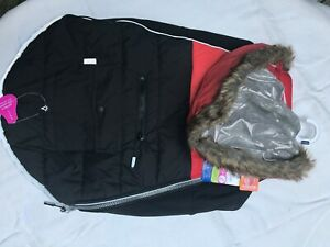 NWT Top Paw Hooded Reflective Dog Winter Coat Red Black Silver Size XL