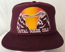 Vintage SnapBack Royal Gorge Colorado Made in USA Mesh Trucker Hat Cap Farmer