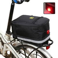 Cycling Rear Rack Seat Carrier Bag Bike Tail Storage Pannier Pouch Bicycle Light