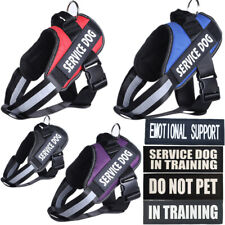 IN TRAINING Dog Harness Vest W/ Removable Patches EMOTIONAL SUPPORT SERVICE DOG