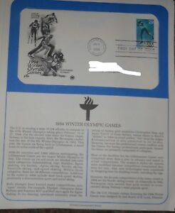 First Day Issue 1994 Winter Olympic Games US Stamp Fact Sheet Mint Hinge 29 Cent