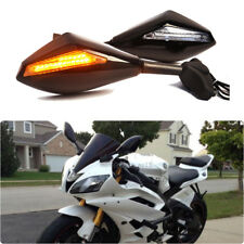 LED Turn Signals Motorcycle Mirror Clear Lens For Yamaha FZR 1000 YZF600 R6 FZ6R