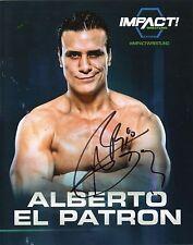 "ALBERTO EL PATRON GFW TNA SIGNED WRESTLING PROMO PHOTO 8x10"" wwe DEL RIO"