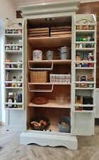 ❤ KITCHEN LARDER PANTRY /CUPBOARD WITH SPICE RACKS, SHELVES  SOLID PINE