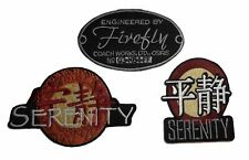 Firefly Serenity Movie Logo Themed Embroidered Iron on Patch Set of 3