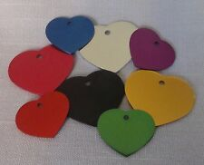 HEART ID TAGS BULK RESCUE - ENGRAVED LOT OF 25 Pet/Dog/Cat ID Tag Choose colors